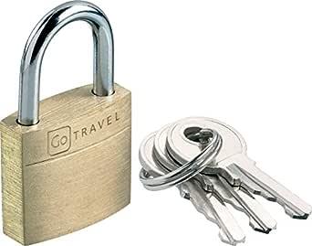 Go-Travel 20mm Luggage Lock, Brass, 170
