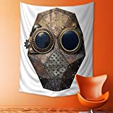 SCOCICI1588 Polyester Tapestry Multi Purpose Steampunk metal robot head Wall Hanging for Bedroom Living Room Dorm 40W x 60L INCH
