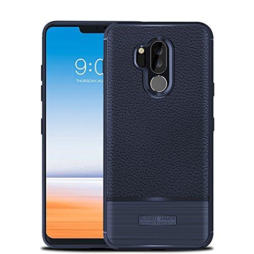 finest selection 65d1c 648f4 CruzerLite LG G7 Case, LG G7 ThinQ Case, Carbon Fiber Shock Absorption Slim  Flexible Case for LG G7/LG G7 ThinQ (Blue)
