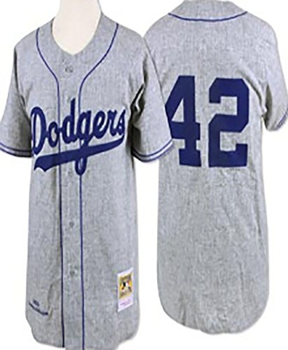 Los Angeles Dodgers  42 JACKIE ROBINSON Men s MLB Jersey Gray XXX-Large -  Buy Online in UAE.  9484e9e54bb