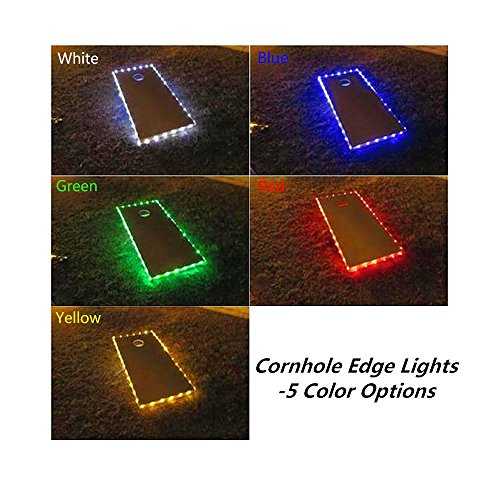 321 Lights Set of 2 Cornhole Edge Lights Led Lighting kit Last for 100+ Hours on 3 AA Batteries (not Included)