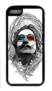Soft TPU iphone 5C case with Abstract Painting Dali In 3d Custom TPU Back Case for iphone 5C