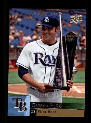 2009 Upper Deck # 363 Carlos Pena Tampa Bay Rays (Baseball Card) Deans Cards