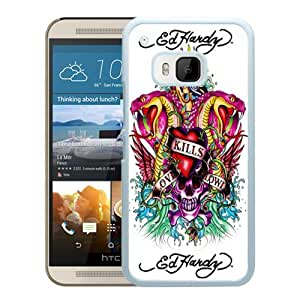 HTC ONE M9 Case,100% brand new Ed Hardy 8 White Case For HTC ONE M9