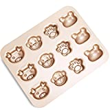 FOR BAKE 12 Cup Cartoon Cake Mould Carbon Steel Nonstick Bakeware Baking Pan Tray Frog Cat Claw Monkey Pig