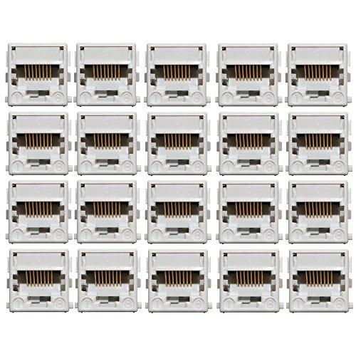 Systimax Commscope MGS200Bh-B1K-262 CAT5E Keystone Rj45 Jack, White (25 Pack)