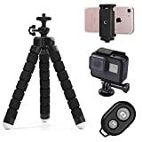 Phone tripod, Tripsky Portable and Adjustable Camera Stand Holder with Remote and Universal Clip for iPhone, Android Phone, Camera, Sports Camera GoPro