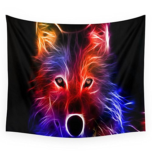 Society6 3d,wolf, Wall Tapestry Large: 88