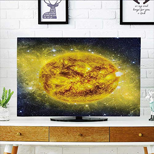 L-QN Protect Your TV Panorama of Sun in Space with Luminous Effects Dynamic Center of Solar System Protect Your TV W20 x H40 INCH/TV 40''-43'' by L-QN