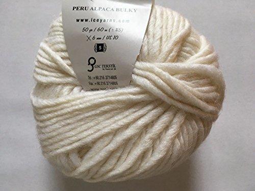 Peru Alpaca Bulky #48702 Ivory White Merino Wool Alpaca Acrylic Blend Yarn ()