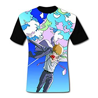 272aafd73 Amazon.com: Men's T-Shirt Cool Handsome Rei-gen MP-100 3D Graphic ...