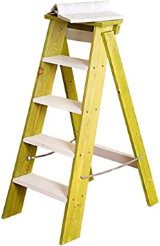 J-Escalera de Tijera Portátil 5 Niveles Plegables Taburete Escalera Estable Baja Estante Puesto De Flores, Familia Cocina Adulto Niño (Color : C): Amazon.es: Bricolaje y herramientas