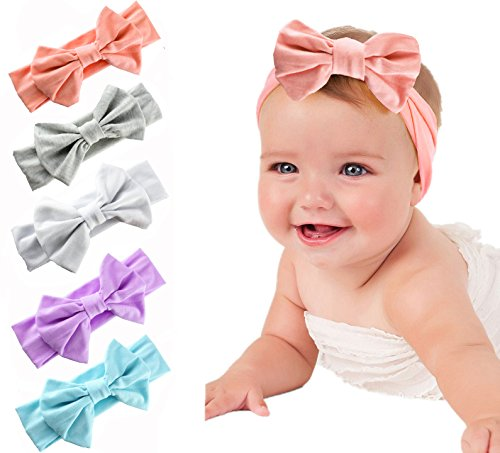 Onshine Baby Girl Headbands with Bow Elastics Head Wrap Hair Accessories for Infant