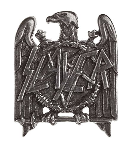 (Slayer Lapel Badge Eagle Band Logo Official Alchemy Silver)