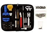 Platinum 147 Pcs Portable Professional Watch Repair Tool Kit Set Solid Hammer Spring Bar Tool Watchmaker