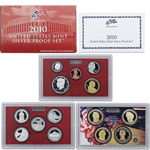 2010 U.S. Mint Silver Proof Set set Uncirculated