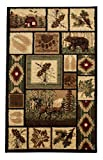 Rugs 4 Less Collection Rustic Western and Native American Wildlife and Wilderness Cabin Lodge Accent Area Rug – R4L 386 (2×3) Review