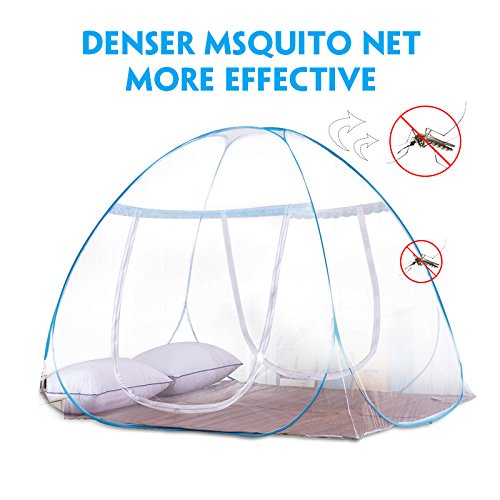 Bode.X Pop-Up Mosquito Net Tent, Portable Folding Anti Mosquito Bites 2 Openings&Bottom Design Boys Travel Baby Adults 71 x 80 x 59 inch by Bode.X