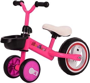 ZXDBK Bicicleta de Equilibrio, Triciclo Niño Bicicleta sin Pedales Bicicleta para Caminar Neumático con Luces de Colores 1 Año Viejo Niños Niñas Bebé Caminar Bicicleta Primera Bicicleta,Pink: Amazon.es: Deportes y aire libre