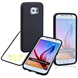 Galaxy S6 Case,S6 Colorful TPU Wrap Up Phone Case w/ Built-in Screen Protector, [Slim Perfect Fit] [Scratch Resistant] [Full Body with Back & Front Protection] Flip Up-down Open TPU Gel Shockproof Hybrid Skin Silicone Protective Case Cover for Samsung Galaxy S6 S VI G920 9200 (Black)