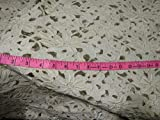 """LACE:Rich Chemical Lace Fabric 44"""" Ivory Gold Color"""