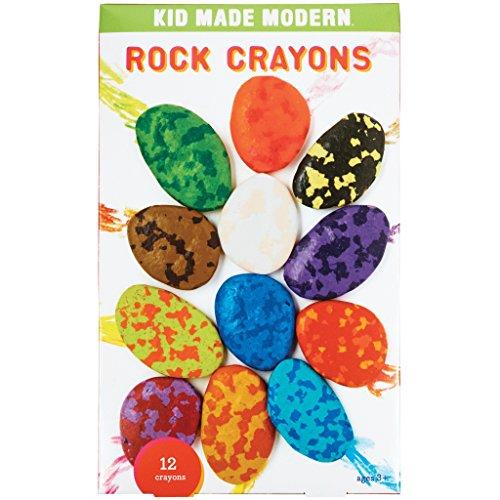 Kid Made Modern Rock Shaped Crayons Fun Arts & Craft Supplies for Kids,Set of 12