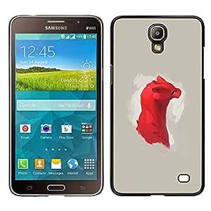 Stuss Case / Funda Carcasa protectora - Dragón rojo lindo - Samsung Galaxy Mega 2