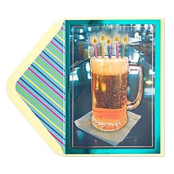 Amazon.com: Tarjeta de cumpleaños cerveza con velas: Office ...