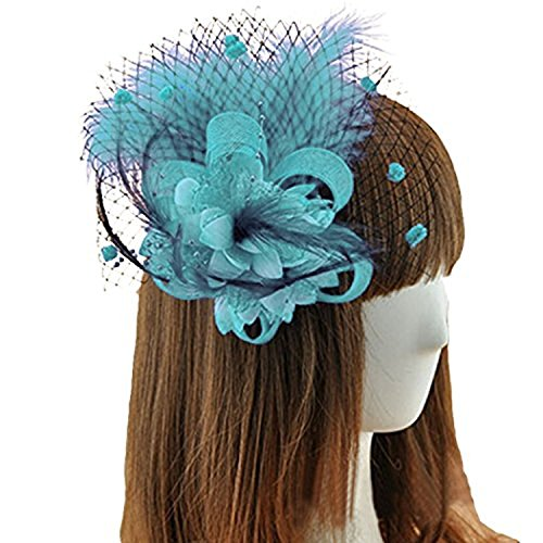 light blue feather clip - 5