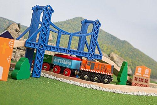 Orbrium Toys 52 Pcs Deluxe Wooden Train Set With 3 Destinations Fits Thomas Brio Chuggington Melissa And Doug Imaginarium Wooden Train