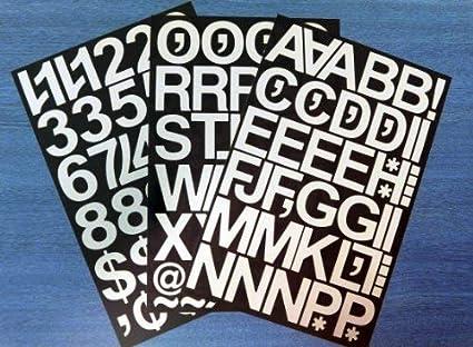 Pack de adhesivos Minilabel con números y letras recortadas ...