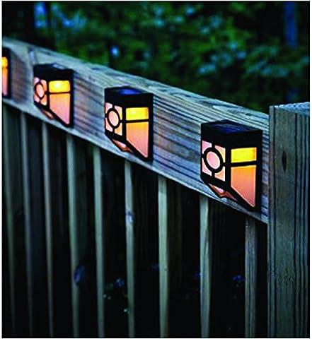 4 X Solar Powered Wall Mount Light Outdoor Landscape Garden Yard Fence (Outdoor Decor)