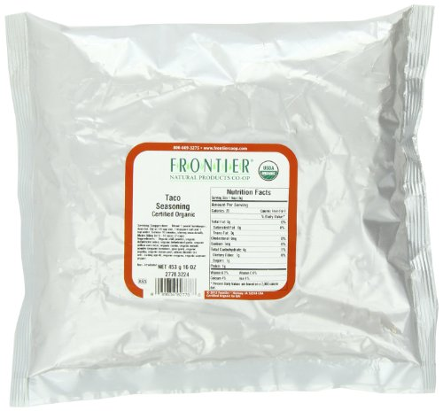 - Frontier Taco Seasoning Certified Organic, 16 Ounce Bag