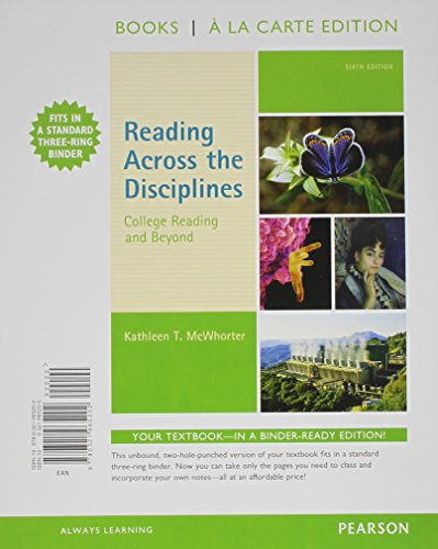 Reading Across the Disciplines: College Reading and Beyond, Books a la Carte Edition (6th Edition)