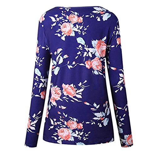 0.25 Trimmer (Clearance Printed Long-Sleeved Top Women Ladies Floral Printing T-Shirt Long Sleevel Tops Blouse Duseedik)