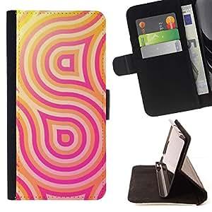 Momo Phone Case / Flip Funda de Cuero Case Cover - Patrón Líneas Rosa Amarillo - LG G4c Curve H522Y (G4 MINI), NOT FOR LG G4