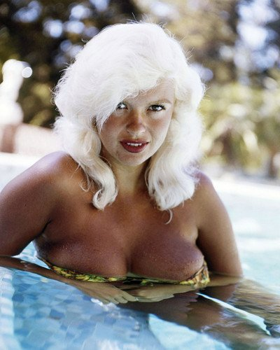 Jayne Mansfield raunchy very busty image at edge of pool 8x10 Promotional Photograph