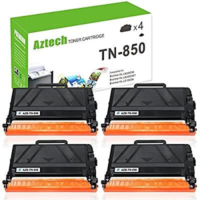 Aztech TN850 TN 850 High Yield Compatible with Brother HLL6200DW Wireless Monochrome Laser Printer ( HL-L5100DN HL-L6200DW HL-L5200DW MFCL5900DW Brother Laser Printer Toner Cartridge )