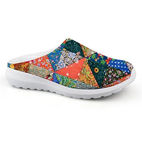 Fashion Design Sandaler Flerfarget Blomster Pustende Mesh Slip-ons Late Sko Jenter Multicolor3