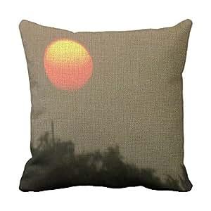 lettert Cool funda de almohada cuadrado, Sunset sofá, sofá almohadas