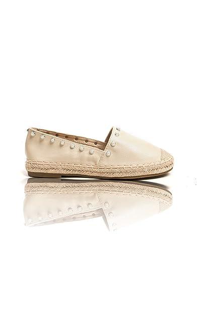 234949641c9 Ikrush Womens Cori Pearl Studded Espadrille Sandal Beige UK 3 ...