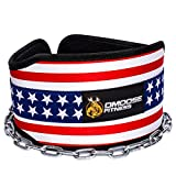 """DMoose Fitness Premium Dip Belt with Chain – 36"""" Heavy Duty Steel Chain, Comfort Fit Neoprene, Double Stitching – Maximize your Weightlifting & Bodybuilding Workouts …"""