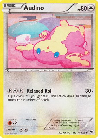 Pokemon - Audino (RC17/RC25) - Legendary Treasures
