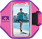 Nathan Running ArmBand Super 5K Universal Fitting. Perfect for Running, Biking, Hiking and more. iPhone, Samsung, Note, Galaxy. Arm Band Phone Carrier.