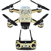 Skin for DJI Spark Mini Drone Combo - Through Christ| MightySkins Protective, Durable, and Unique Vinyl Decal wrap cover | Easy To Apply, Remove, and Change Styles | Made in the USA