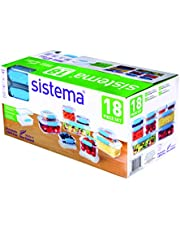 Sistema Klip It Accents 18-Piece Food Storage Container Set