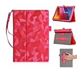 ASUS Zenpad 10 Case,ISIN Tablet Case Series ASUS Zenpad 10 Z300C Z300M Z301M Z301ML Z301MF 10.1'' Tablet Premium PU Leather Case Protective Stand Cover Hand Strap, Stylus Holder and Lanyard (Rose)