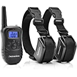 Petronics 330 Yards Rechargeable Shock Collar with Remote, Electronic Dog Training Collar for 2 Dogs