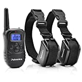 Training Dog Collar - Petronics 330 Yards Rechargeable Shock Collar with Remote, Electronic Dog Training Collar for 2 Dogs