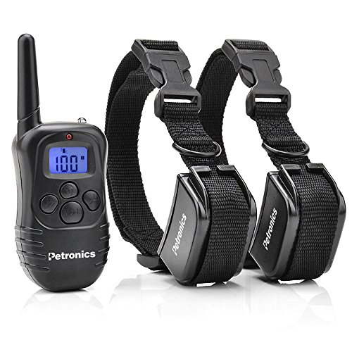 Petronics 330 Yards Rechargeable Shock Collar with Remote, Electronic Dog Training Collar for 2 Dogs ()